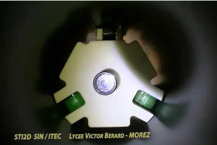 Projet en BAC STIDD au Lycée Victor Bérard à Morez – Robot RICC