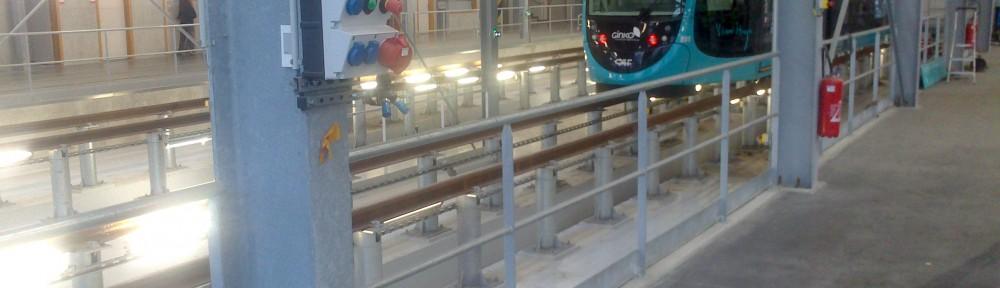 Centre de maintenance du tramway de Besançon