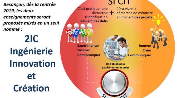 L'enseignement 2IC – Ingénierie Innovation et Création